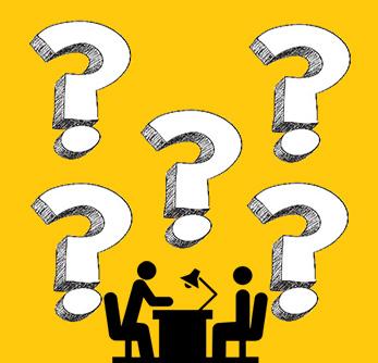 تصویری از مصاحبه شغلی و پنج علامت سوال