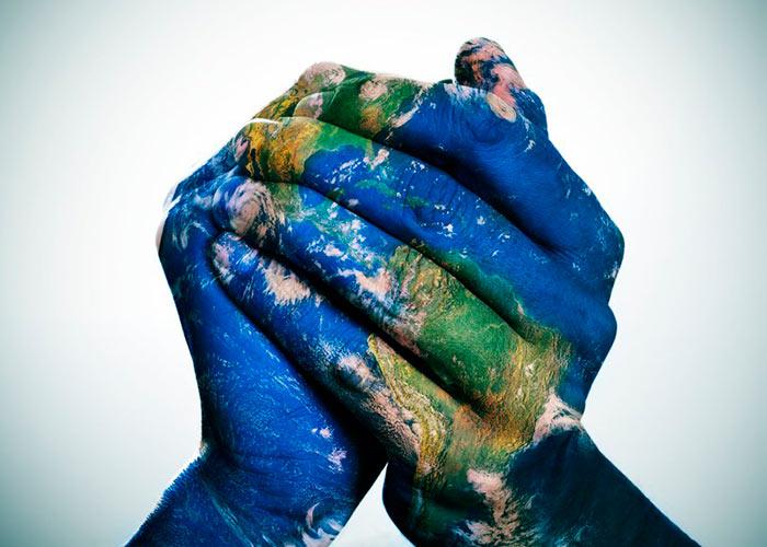تصویری انتزاعی با تاکید بر مراقبت از زمین با افزایش سواد محیط زیست
