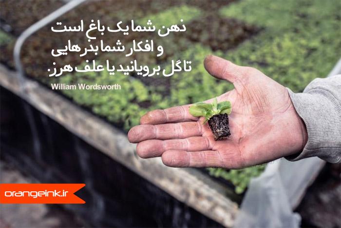 عکس نوشتی با تاکید بر نقش افکار سازنده در توسعه بهره وری شخصی در بهار